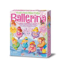 4M Ballerina Mould & Paint Glitter Crafts