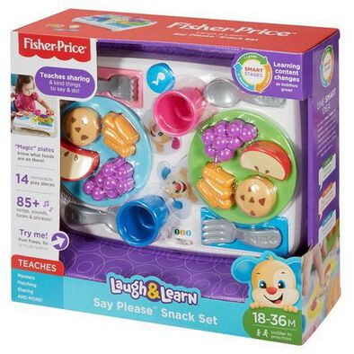Fisher-Price Fp Laugh&Learn Say Please Snack Set