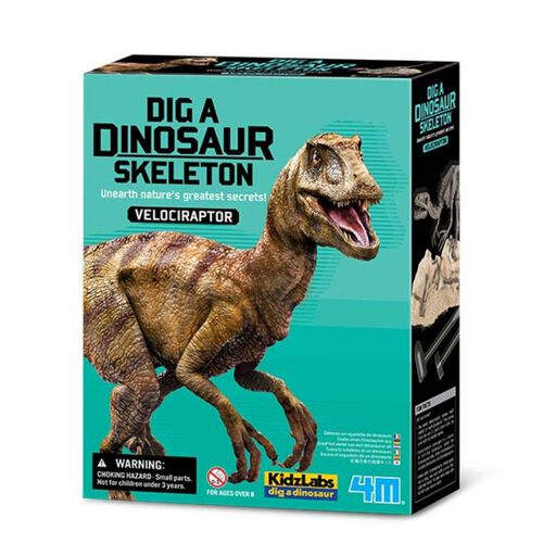 4M Kidzlabs Dig a Velociraptor Skeleton