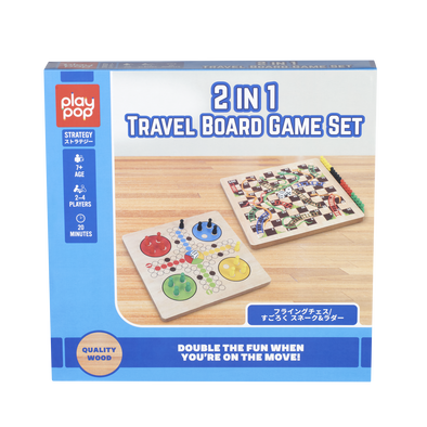 Play Pop 2 In 1 Travel Board Game Set Strategy Game