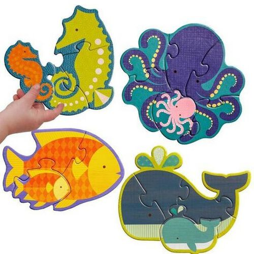 Petit Collage Beginner Puzzle Ocean Babies