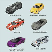1:32 Diecast Car With Light and Sound - Assorted
