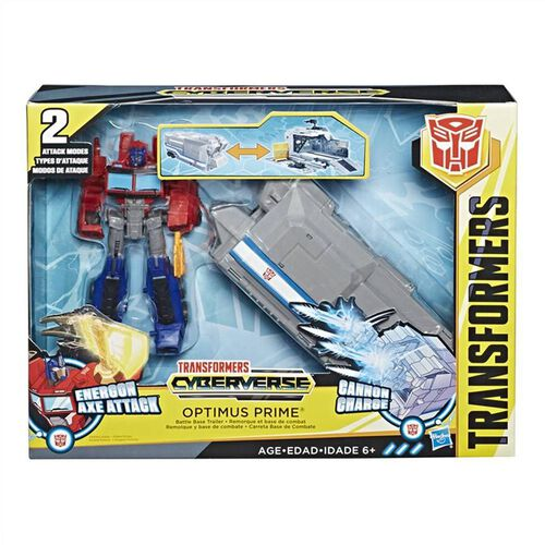 Transformers Cyberverse Warrior Class Optimus Prime Battle Base Trailer
