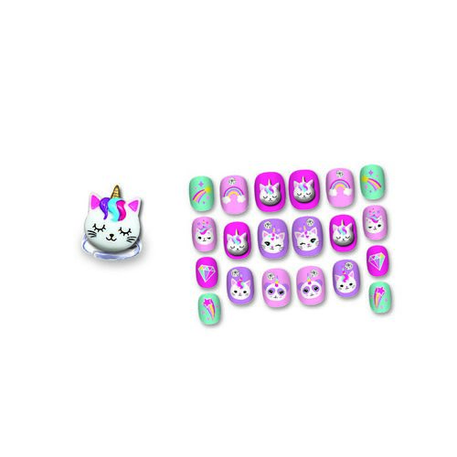 Hot Focus Pop Glamour Nails Caticorn