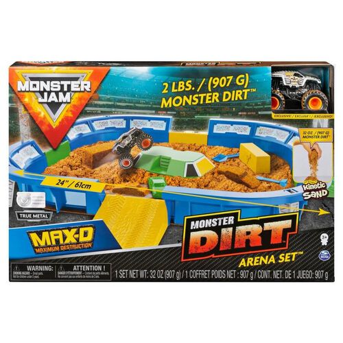 Monster Jam Kinetic Dirt Arena Playset