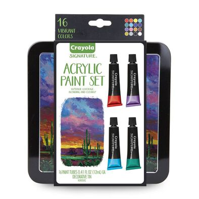 Crayola 16Ct Acrylic Paints In Tin