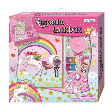 Hot Focus Keepsake Lockbox Unicorn