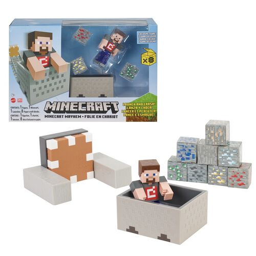 "Minecraft 3.25"" Minecart Mayhem Playset"