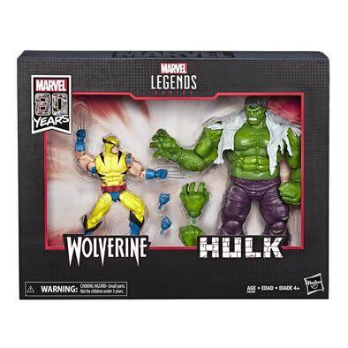 Marvel Legends Series 80th Anniversary Hulk and Wolverine