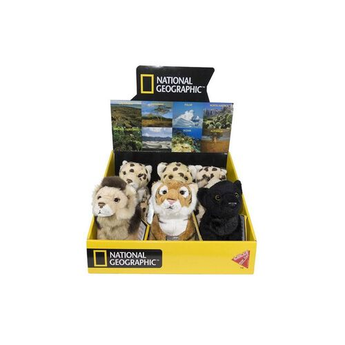 National Geographic Lelly Pelluche Big Cat Feline Baby - Assorted