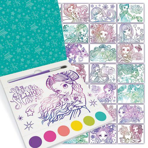 Nebulous Stars Water Colour Poscard Girl