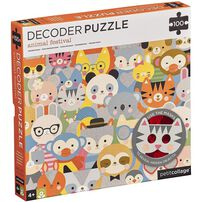 Petit Collage Kawaii Animals 100Pc Puzzle