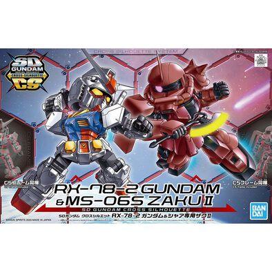 Gundam Bd* -1800 Sd Gundam Cross Silhouette Rx-78-2 & Ms-06S Zaku Ii