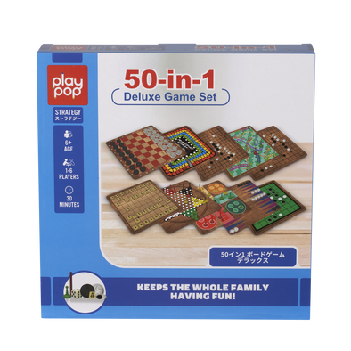 Play Pop 50-In-1 Deluxe Game Set Strategy Game