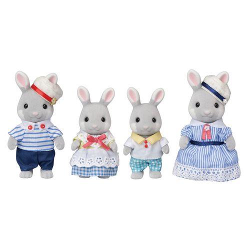 Sylvanian Families Sea Breeze Rabbit Family