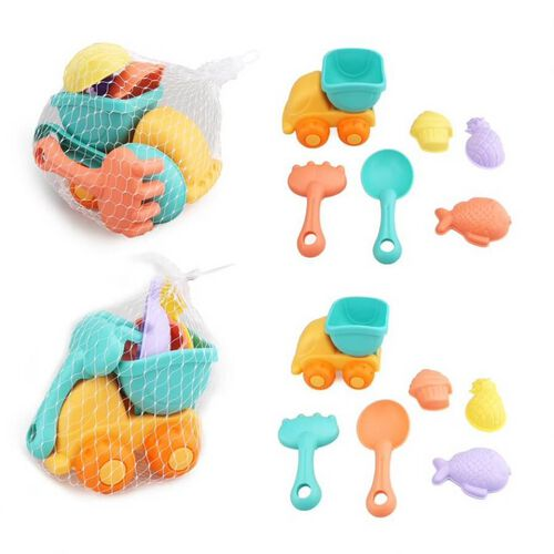 Beach Toy Car Set 8 Pieces - Assorted