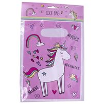 Party Plastic Loot Bag 6 Pieces Unicorn