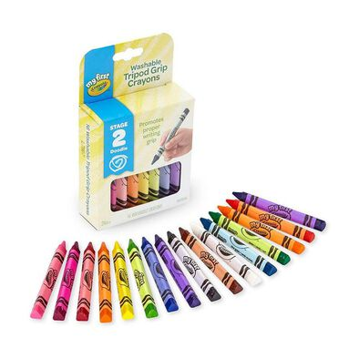 Crayola My First Crayola 16 Colours Washable Tripod Grip Crayons