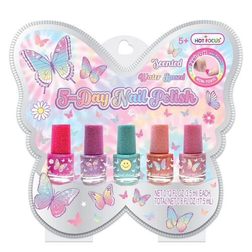 Hot Focus 5 Day Nail Polish Tie Dye Butterfly