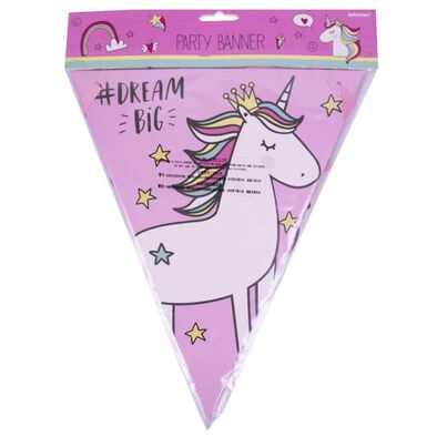 Party Flag Banner 3m Unicorn