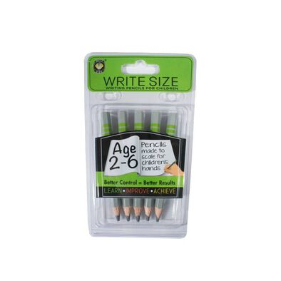 Write Size Writing Pencils For Children (Age 2 6)