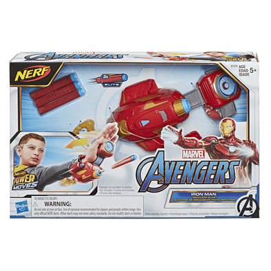 NERF Power Moves Marvel Avengers Iron Man Repulsor Blast