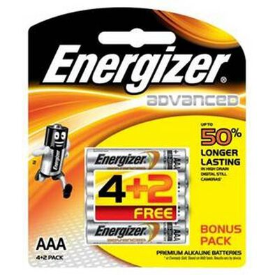 Energizer E2 Size AAA 4+2G