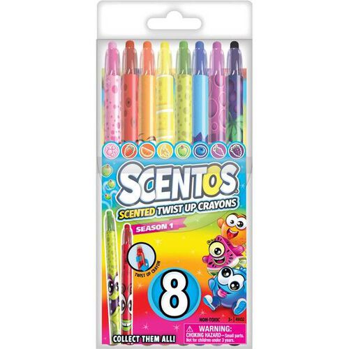 8Ct Scentos Scented Twistdable Crayons