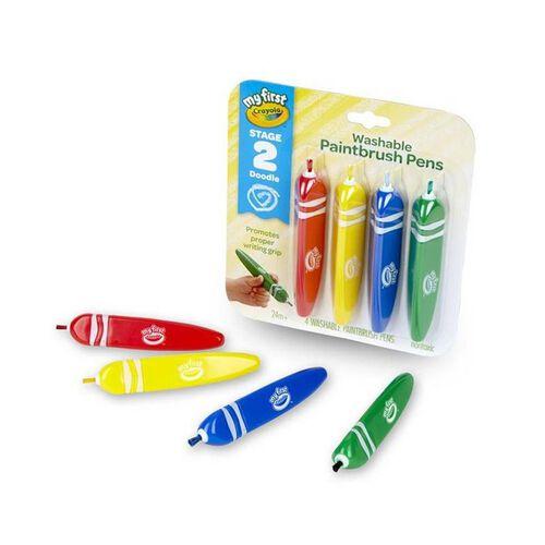 Crayola 4 Colours Washable Grip Paint Brush Pens