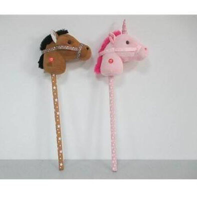 Animal Alley 78Cm Stick Horse & Unicorn - Assorted