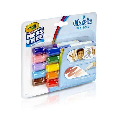 Crayola 10 Colours Washable Mini Markers