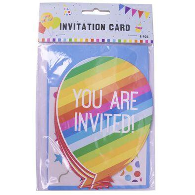 Invitation Card 6 Pieces