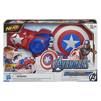 NERF Power Moves Marvel Avengers Captain America Shield Sling
