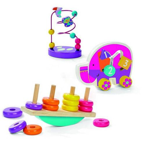 Universe Of Imagination Classic Wooden Toy Trio