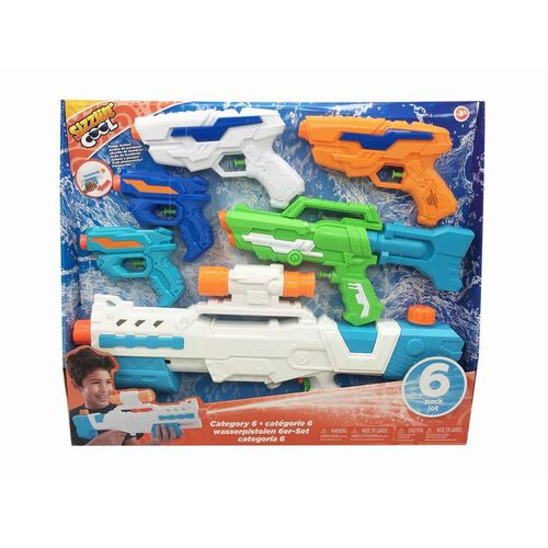 Sizzlin' Cool 6 Pack Water Blasters