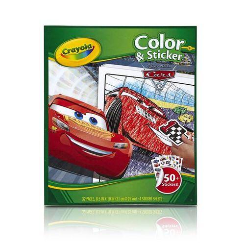 Crayola Cars 3 Color & Sticker