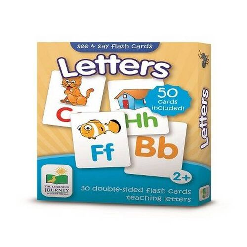 The Learning Journey Flashcards-Letters