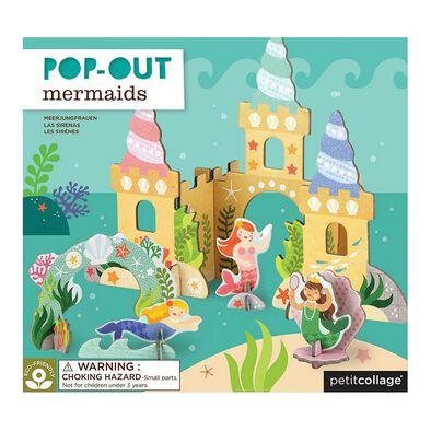 Petit Collage Pop Out Mermaid Castle