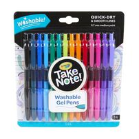 Crayola Take Note 14 Washable Gel Pens
