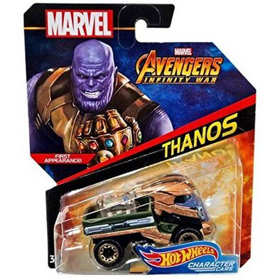 Hot Wheels Marvel Avengers Character Car - Assorted