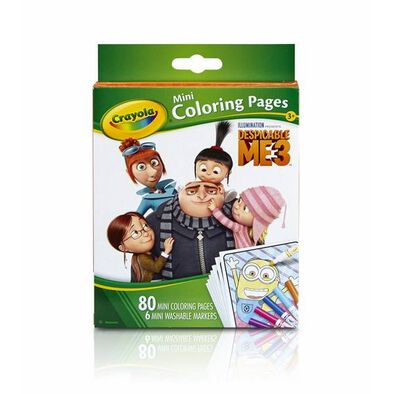Crayola Mini Coloring Pages Dm 12Pk
