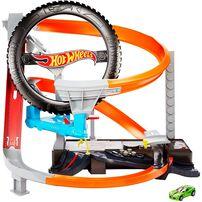 Hot Wheels Hyper Boost Tire Shop Playset