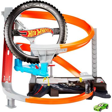 Hot Wheels Hyper Boost Tire Shop Playset