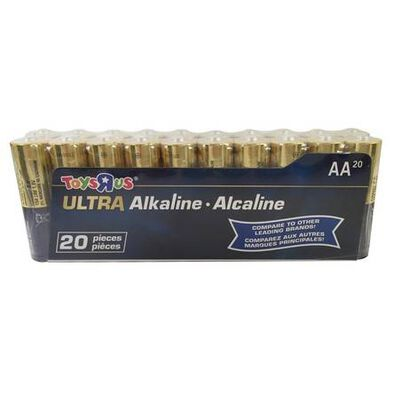 Toys R Us Ultra Alkaline AA Battery Pack 20 Pieces