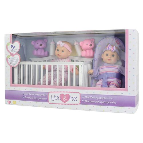 You & Me Mini Twins Nursery Set