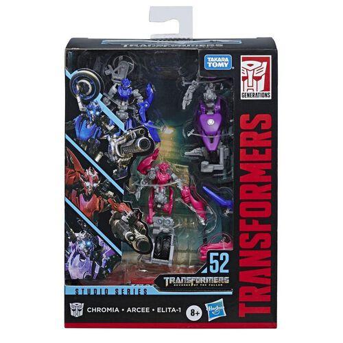 Transformers Deluxe Revenge Of The Fallen Arcee Chromia Elita-1 Action Figure 3-Pack