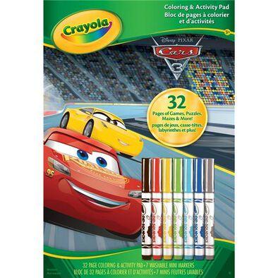 Crayola Cars 3 Coloring & Activity Pad