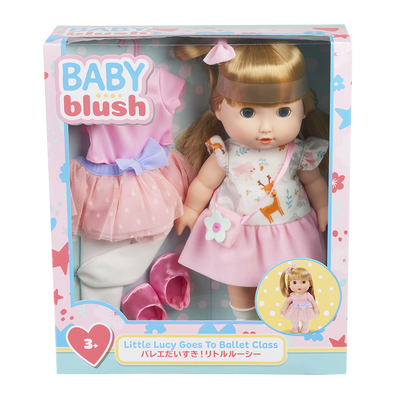 Baby Blush Little Lucy Goes To Ballet Class Doll Set