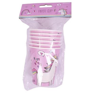 Paper Cups 9oz 6 Pieces Unicorn