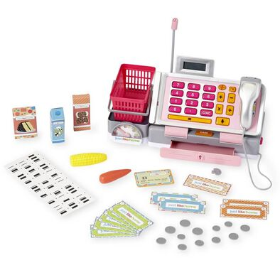 Just Like Home Talking Cash Register Pink